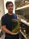 An amazing undergraduate student, Michael, in Dr. Reading's Lab. NCSU Raleigh, NC (2017).