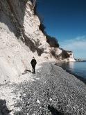 Stevns Klint, white chalk cliffs. Island of Zealand. Denmark (2015).