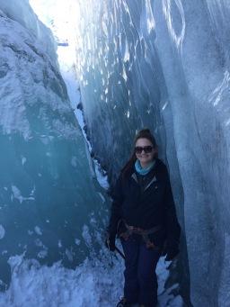 Enjoying the crevasse. Iceland (2015).