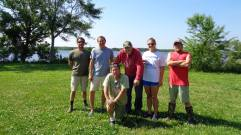 2017 Spawning Season Crew (From Left: Robert Clark, Andrew McGinty, Michael Hopper, Ronald Hodson, myself, Benjamin Reading).