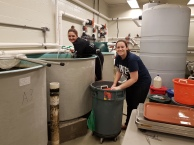 Sampling at Grinnell's with Erin! Photo Credit: Sarah Rajab.