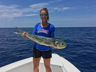 Brendan Runde is an amazing host and captain and helped me reel in my first mahi !